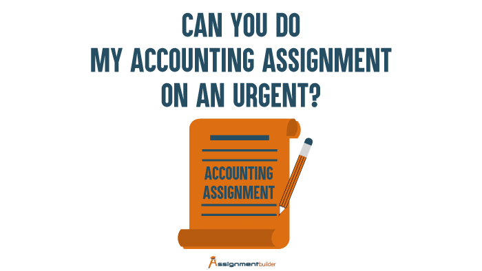 Can You Do My Accounting Assignment On An Urgent