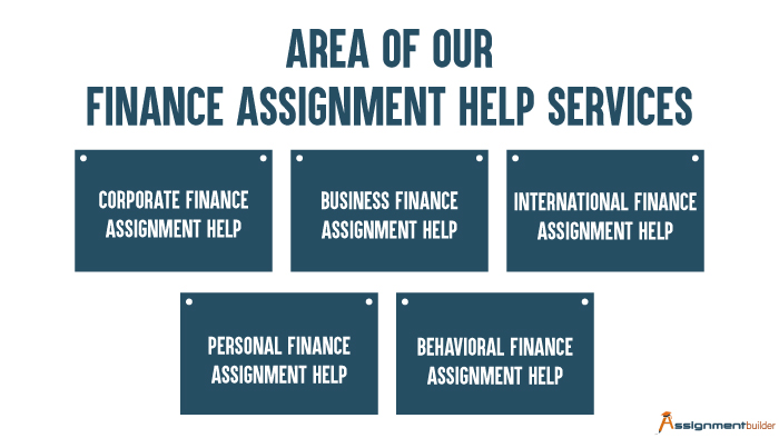 Area of Our Finance Assignment Help Services