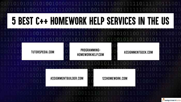 5 Best C++ Homework Help Services in the US